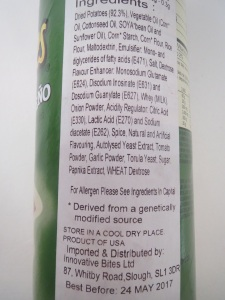 Pringles - UK ingredients list