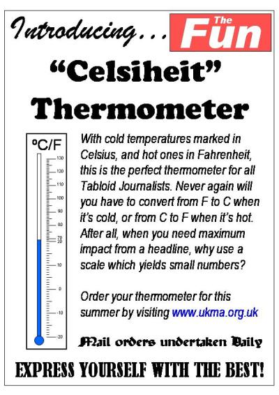 The Celsiheit thermometer